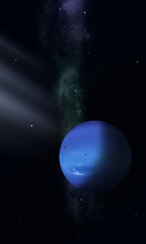 Space Illustration Of Neptune