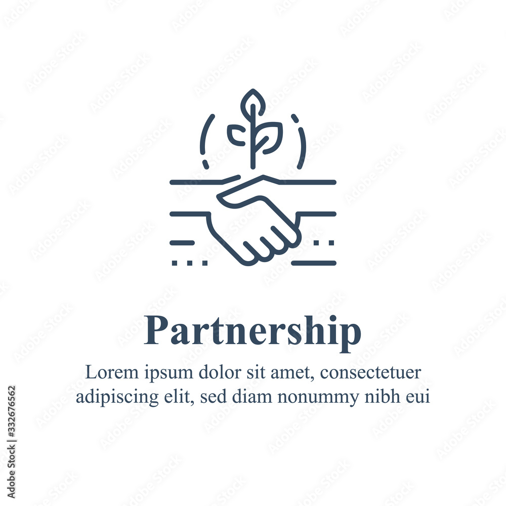 Fototapeta Partnership or mutual trust, handshake concept, negotiation compromise, conflict management, problem solving