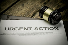 Urgent Action With Gavel. Clas...