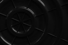 Circle And Line Black Plastic ...