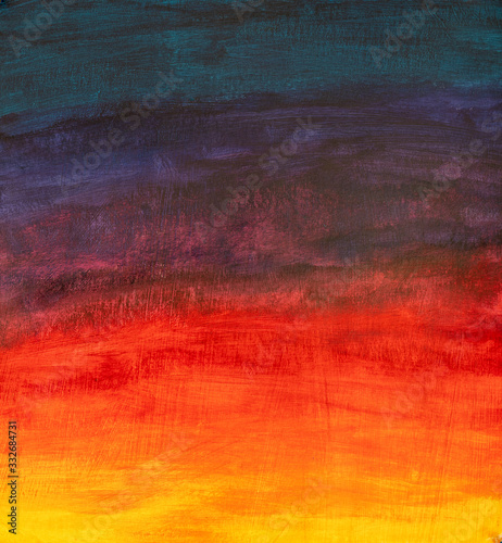 Photo yellow orange red purple gradient - oil painting on canvas
