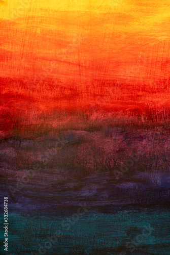 фотография yellow orange red purple gradient - oil painting on canvas