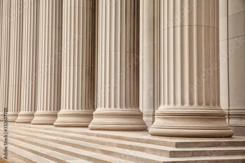 Greek Columns Style Billede på lærred