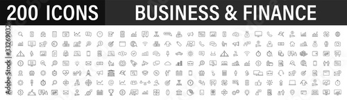 Set of 200 Business icons Canvas Print