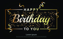 Happy Birthday Gold Letter Wit...