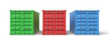 3d Rendering Of Green, Red And...