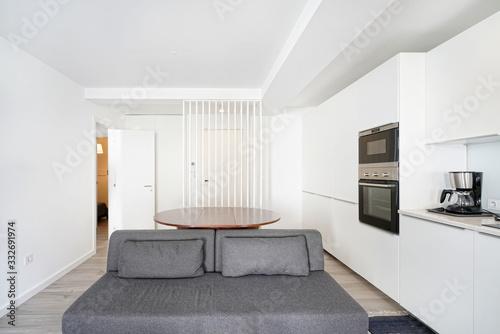 Cozinha moderna interior de apartamento Wallpaper Mural