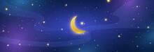Night Sky Long Banner. Half Mo...