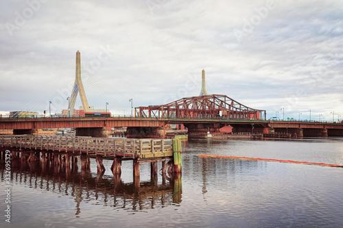 Leonard Zakim Bunker Hill Memorial Bridge in Boston Fototapet