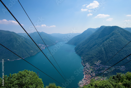 Pigra, little mountain village overlooking Lake Como connected by a funicolar to Argegno Wallpaper Mural