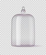 Vector Realistic Mockup Glass Dome Or Cloche