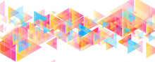 Colorful Pastel Triangles Abst...