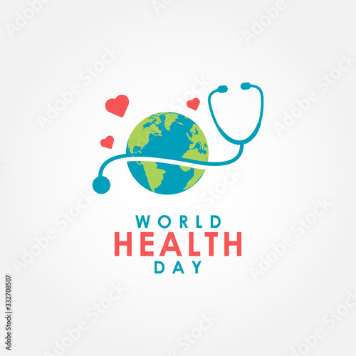 World Health Day Vector Design For Banner or Background Wall mural