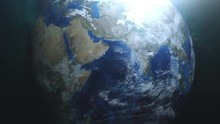 Planet Earth Zooming In On The...