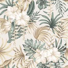 Tropical Floral Foliage Palm L...