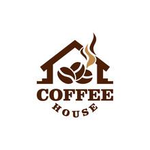 Coffee House Logo Vector Graph...