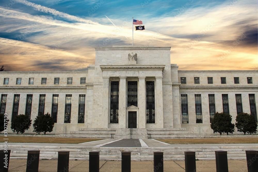 Fototapeta Federal Reserve Building in Washington DC, United States, FED