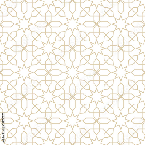 seamless-pattern-in-islamic-style-vector-arabic-gold-ornament-in-white-background