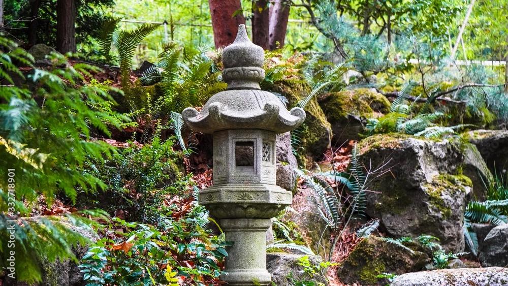 old lantern in the garden