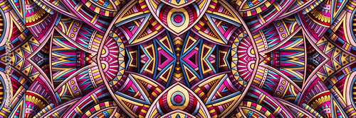 Photo Abstract ethnic rug ornamental seamless pattern
