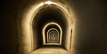 Lighted And Dingy Tunnel