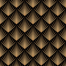Art Deco Trellis Lines Seamless Pattern Vector Graphic Design.