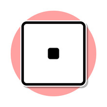 Playing Zary One Sticker Icon. Simple Thin Line, Outline Vector Of Web Icons For Ui And Ux, Website Or Mobile Application