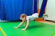 canvas print picture - little girl in hammock sensory integration