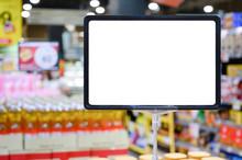 Blank Board With Blur Supermar...