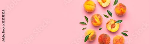 Obraz na plátně Summer fruit background