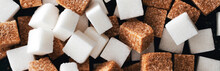 White And Brown Sugar Cubes Cl...