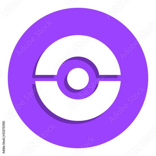 Платно pokeball badge icon