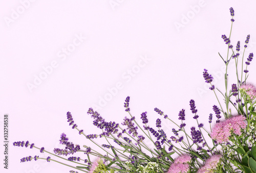 Fototapeta Beautiful frame of lavender flowers obraz