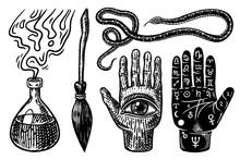 Mystical Magic Boho Elements. ...