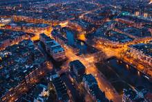 Amsterdam Netherlands Aerial V...