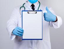 Doctor Holding A Paper Holder ...