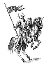 Medieval Armed Knight. Histori...