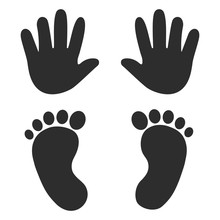 Baby's Footprints And Handprin...
