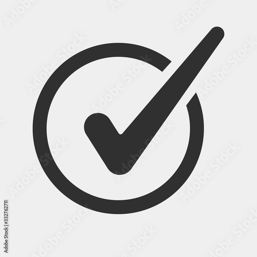 Photo Check mark logo vector or icon