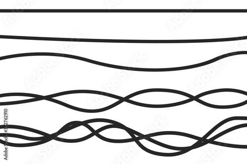 Fotografering Creative vector illustration of realistic electrical wires flexible network, connection industrial power energy cables