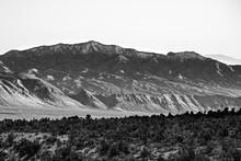 Gass Peak North Face From Desert National Wildlife Refuge Complex In Clark County, Nevada, USA. The Highest Peak (6,937 Ft/ 2,114 M) In The Las Vegas Range.