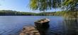 romantic lake view, panorama, backdrop