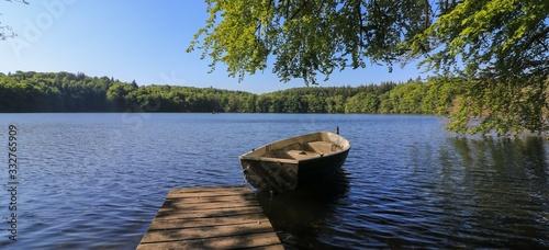 Fotografie, Obraz romantic lake view, panorama, backdrop