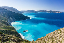 Myrtos Bay And Beach On Kefalo...