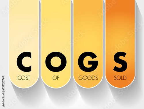 COGS - Cost of Goods Sold acronym, business concept background Canvas Print