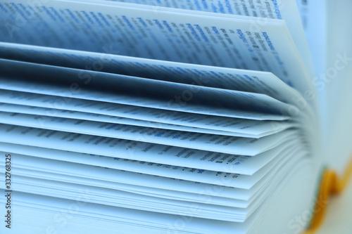 Bücher, Wörterbücher, Buchseiten, Buchblätter, Bücher lesen Canvas Print