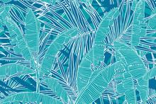 Tropical Leaves Pattern. Seaml...