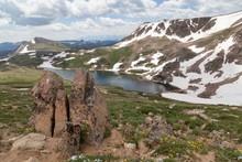 Gardner Lake In The Shoshone N...