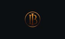IB BI I B Letter Logo Alphabet...