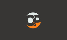 Circular CP Letter Logo Alphabet Design Template Vector